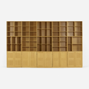bookcases, set of fifteen