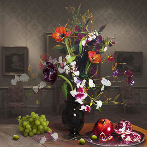 The Costume of Painter - Still Life with Grape, Pomegranate 3D