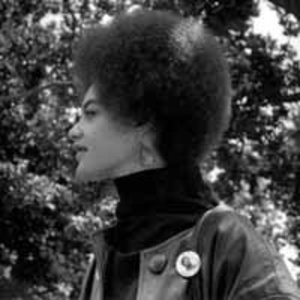 Kathleen Cleaver, Communications Secretary of the Black Panther Party and wife of Eldridge Cleaver, De Fremery Park, Oakland, CA