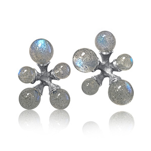 Labradorite Micro Jacks Stud Earrings