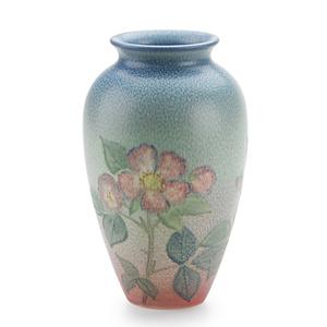 Double Vellum Vase With Roses (Uncrazed), Cincinnati, OH
