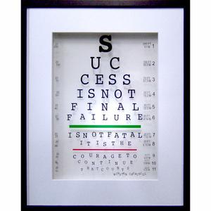 Winston Churchill - Success Eye Quote