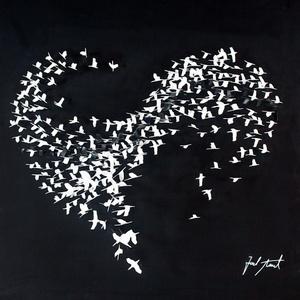 Flying Love - Black And White Birds