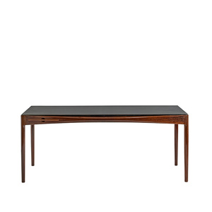 Desk with leatherr top