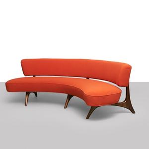 Vladiir Kagan Floating Back Sofa