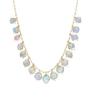 Glowing Opal Fringe Necklace