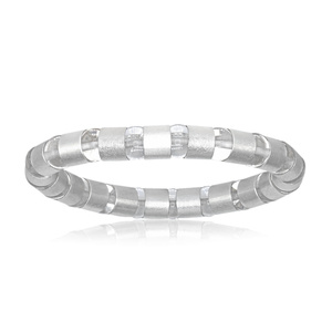 Cleopatra Bracelet in Sterling Silver and Rock Crystal