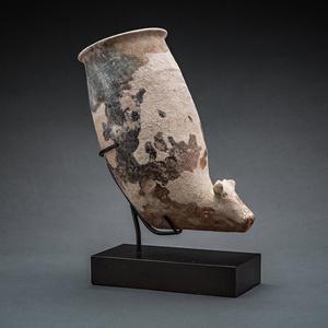 Terracotta Rhyton with Zoomorphic Spout