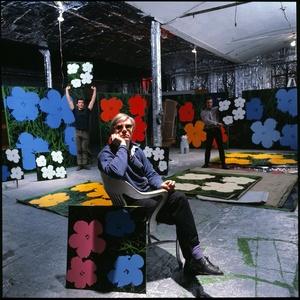 Andy Warhol, Gerard Malanga and Philip Fagan at the Factory, New York