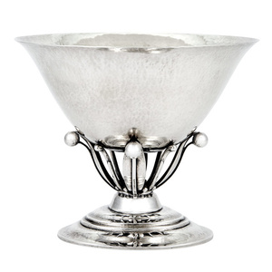Georg Jensen Sterling Silver Compote, Pattern No. 6, designed by Johan Rohde