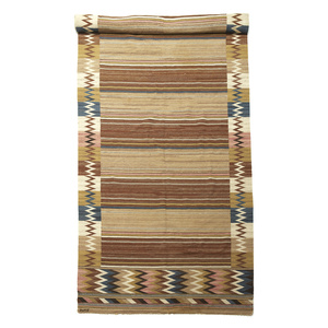 Custom size flat woven carpet