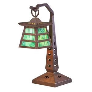 Rare Bungalow-style table lamp, Meriden, CT