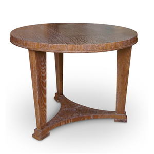 Neoclassical Side or Coffee Table in Limed Oak