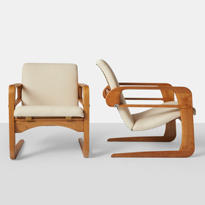 "Kem Weber, Pair of Reclining ""Airline"" Chairs"