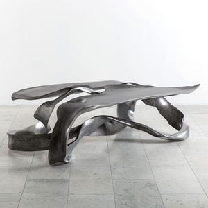 "Marc Fish, Aluminum ""One Piece"" Low Table, UK, 2017"