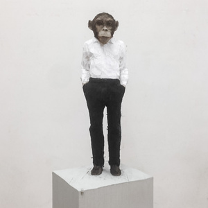 Man with monkey head