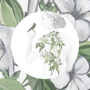 Botanica-Jasmine with Java Finch