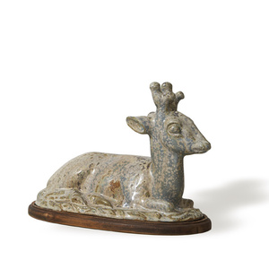 Sculpture depicting young buck
