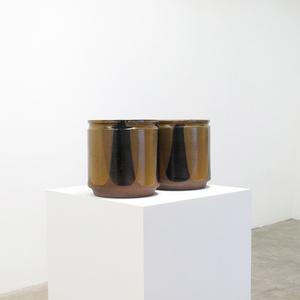 'Flame Glaze' Design Ceramic Planter