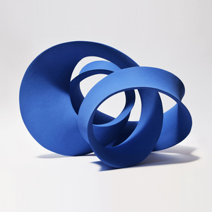 Blue Entwined Form