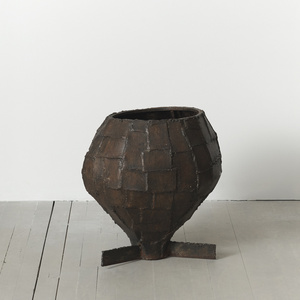 Welded Patchwork Steel Urn, USA