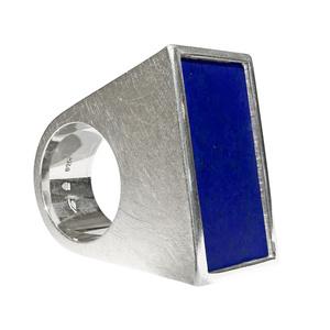 Lapis Lazuli Blocks Ring