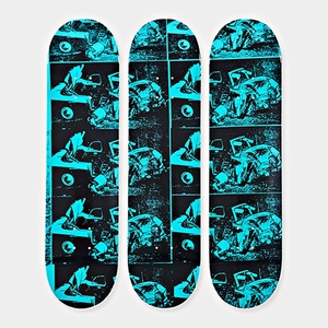 Set of 3 Limited Edition Disaster Series Skate boards decks  - New with hanging hinges