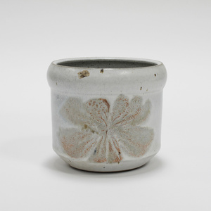 Glazed Ceramic 'Flower' Pot