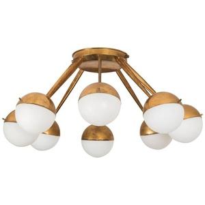 Eight-Globe Flush Mount Ceiling Light by Stilnovo