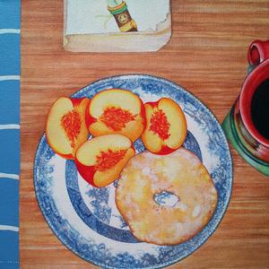 Breakfast: Peaches, Coffee, Shogun