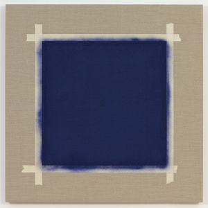One after Another (Square with Ultramarine Blue Paint)