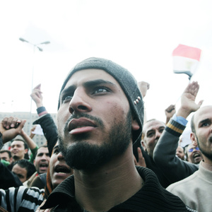 Egypt's Revolution, Protesters in Tahrir Square. Cairo, Egypt