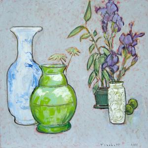 Still Life with Purple Irises