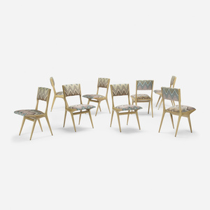 dining chairs model 158, set of eight