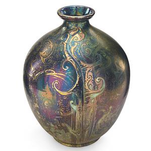 Weller, Large Vase With Modeled Dandelions, Zanesville, OH