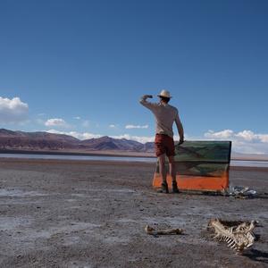 work in progress during his roadtrip in Argentina