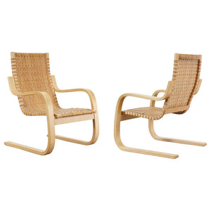 Pair of Cantilevered Armchairs