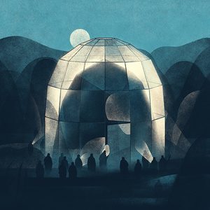 Utopian architecture illustration