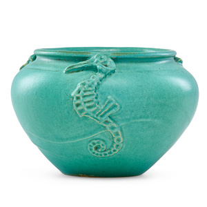 Vase with seahorses