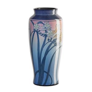 Rookwood, Fine Tall Ivory Jewel Porcelain Vase With Freesia (Uncrazed), Cincinnati, OH
