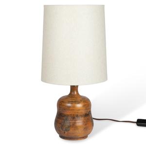 Mottled Red Glazed Ceramic Lamp