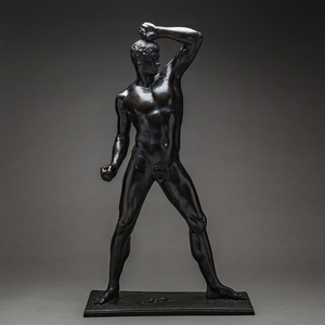 Bronze Sculpture Of An Athlete