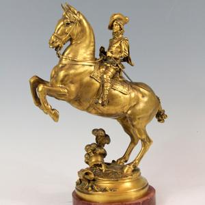 Louis XIII enfant à cheval