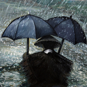 The umbrella and eyes 伞和眼