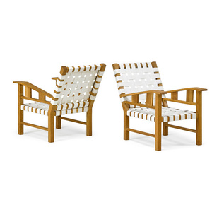Pair of lounge chairs, France