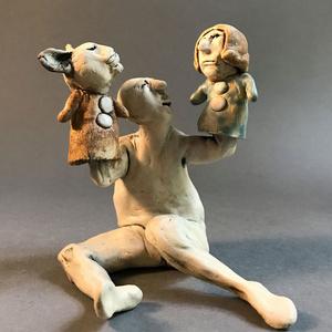 Puppetman, Woman & Cat