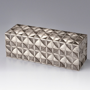Silver Box with Fern Patterns