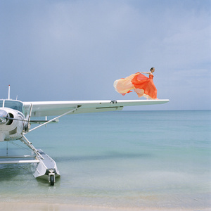 Saori on Sea Plane Wing, Dominican Republic