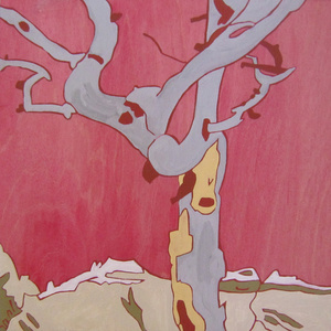 TOPO POP (gray tree, red sky)