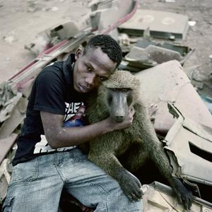 Garuba Yawu with mora, Ogere-Remo, Nigeria